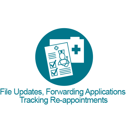 File Updates, Forwarding Applications, Tracking Re-appointments